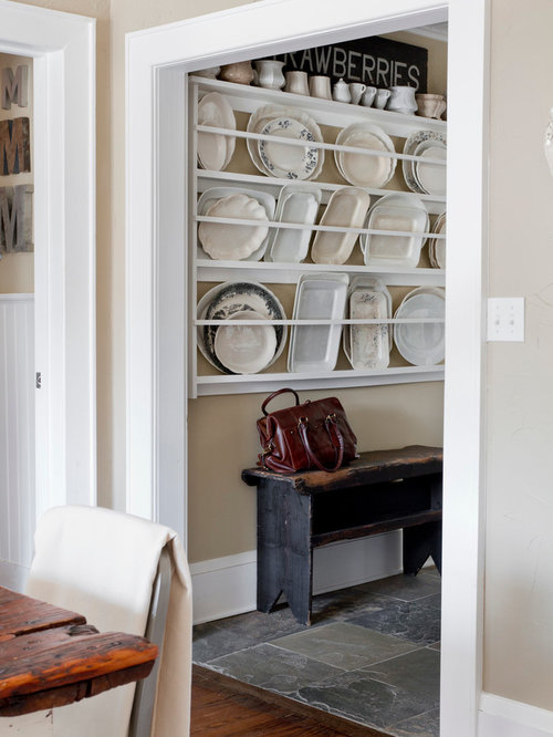 Inspiration For A Shabby Chic Style Hallway Remodel In New York With Beige Walls