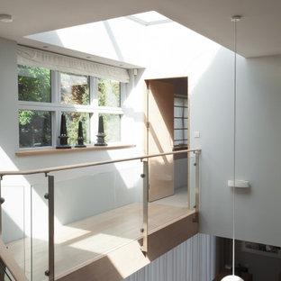 New build house, contemporary style, wooden cladding