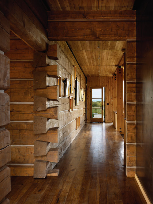 Rustic log cabin interior houzz for Interior designs for log homes