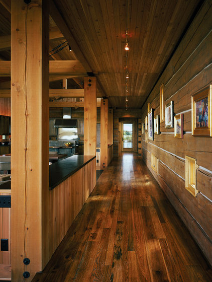 Rustic Hall by Carney Logan Burke Architects