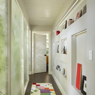 Hallway - mid-century modern hallway idea in San Francisco