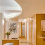 2 Panel Roman Interior Door Contemporary Hall Orange