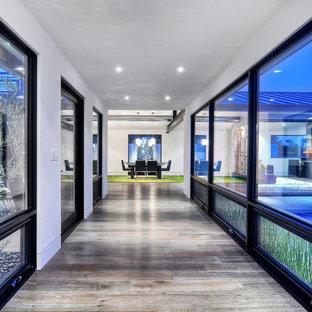 Example of a trendy hallway design in Orange County