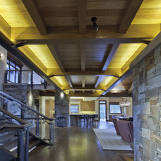 Rustic Hall by Kelly & Stone Architects