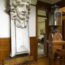 Traditional Hall by Buckingham Interiors + Design LLC