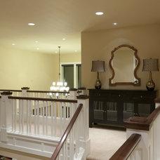 Traditional Hall by nicole helene designs