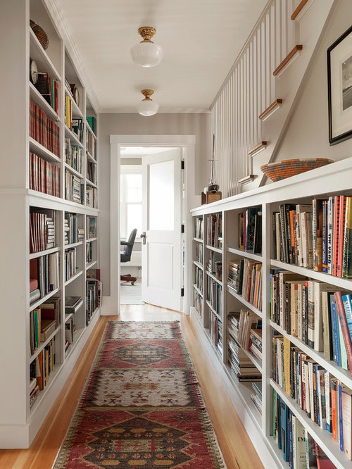 hallway bookcases home design ideas pictures remodel and