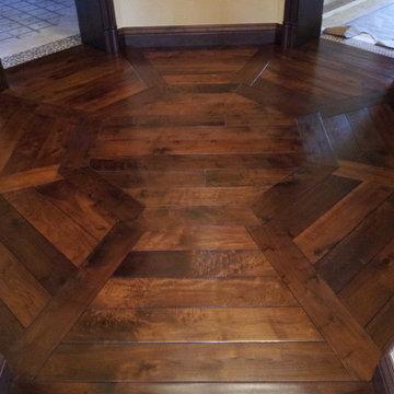 Octagon Flooring Pattern in Walnut