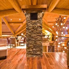 Rustic Hall by Sticks and Stones Design Group Inc