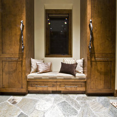 Rustic Hall by Sticks and Stones Design Group inc.