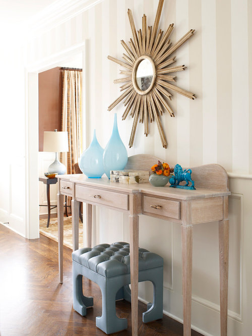 Inspiration For A Beach Style Dark Wood Floor And Brown Floor Hallway  Remodel In New York Part 55