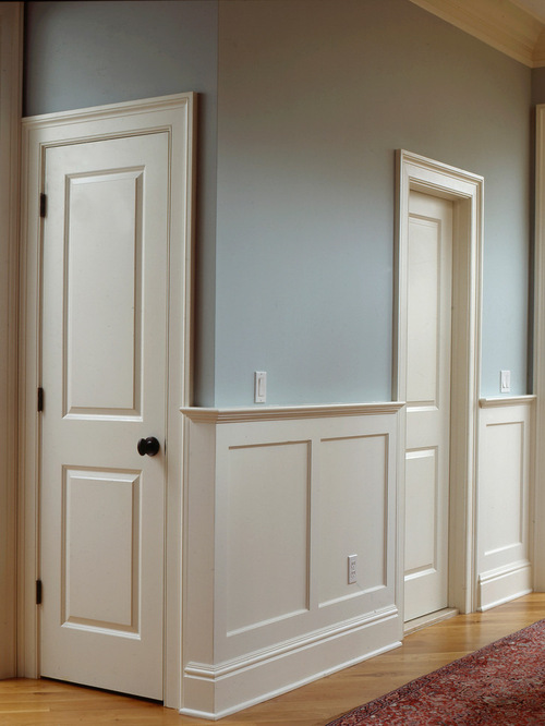 Beautiful Wood Paneled Rooms: Flat Panel Wainscoting