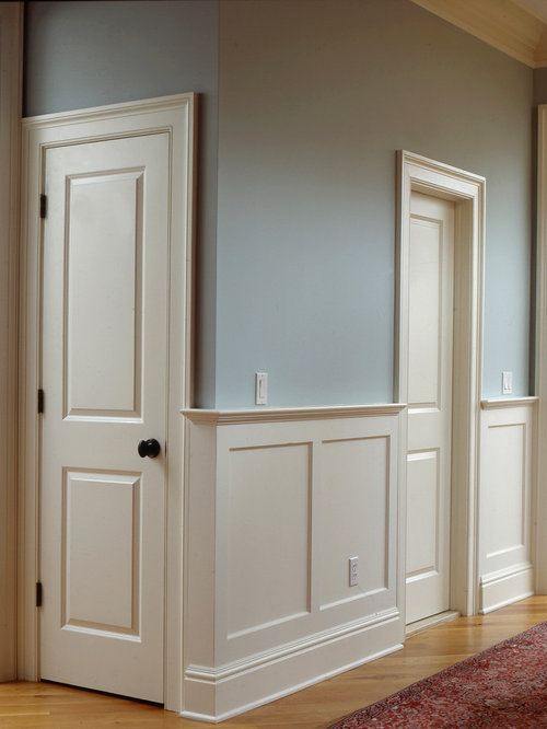 Flat panel wainscoting houzz for Examples of wainscoting