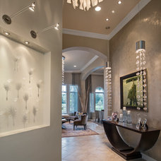 Contemporary Hall by Barbara Rooch Interior Environments, Inc.