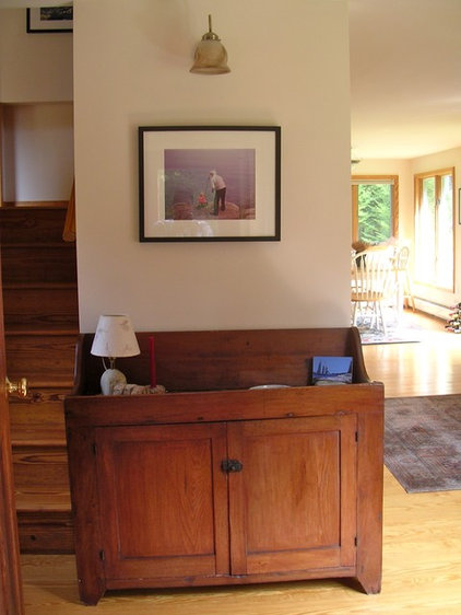 contemporary hall Penobscot Bay Cottage