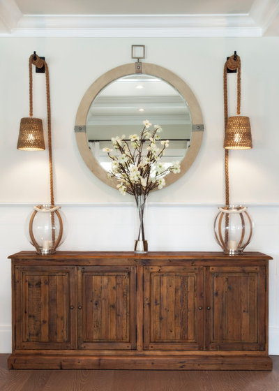 Beach Style Hall by Christopher's Home Furnishings of Nantucket, Inc.
