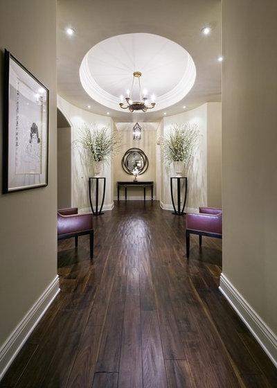 Contemporary Hallway & Landing by Jennifer Bevan Interiors