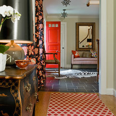 eclectic hall by Katie Rosenfeld Design