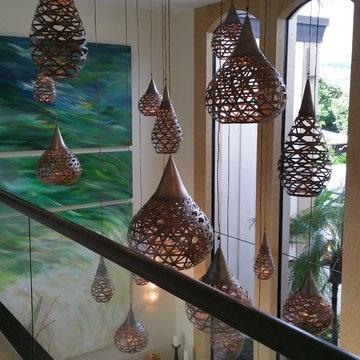 Portlock Residence - Fishing Basket Pendant Lights