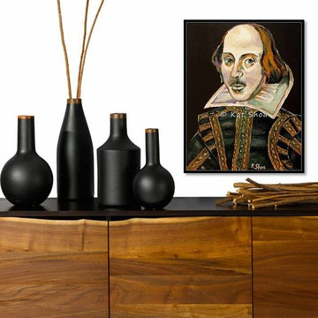 Portraiture Artwork for Library Home office living room modern contemporary