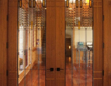 Prairie Style Stained Glass Interior Doors