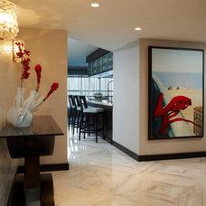 Contemporary Hall by Susan Lachance Interior Design