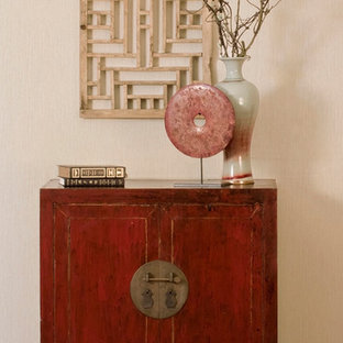 Red Distressed Accent Chest - Chinese Ming Style