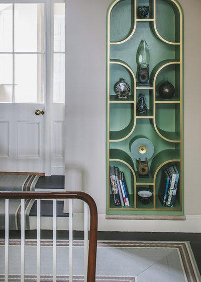 Transitional Hall by Helen Bainbridge Interior Design