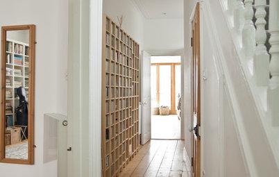 8 Modi per Trasformare Corridoio e Ingresso in una Libreria