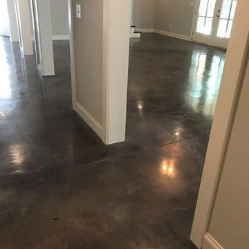 Residential Interior Stained Concrete