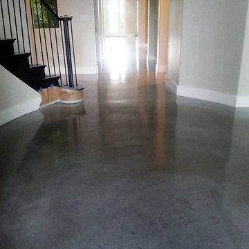 Residential polished concrete.