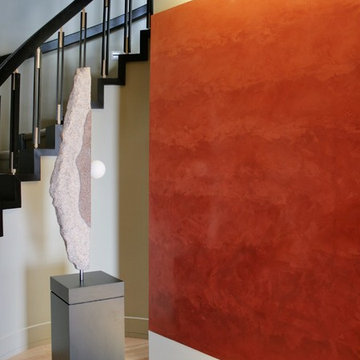 Residential - Polished Veneziano - Feature Wall in Entry Hall