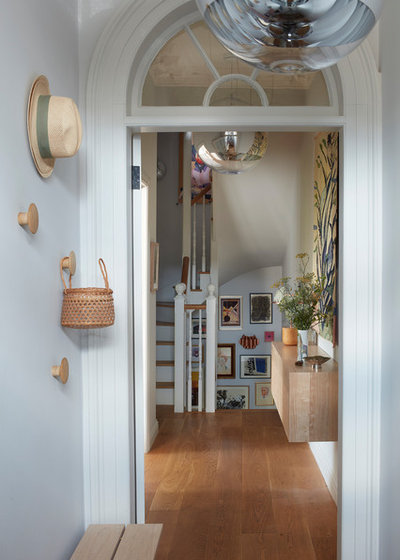 Transitional Hallway & Landing by HCC Interiors