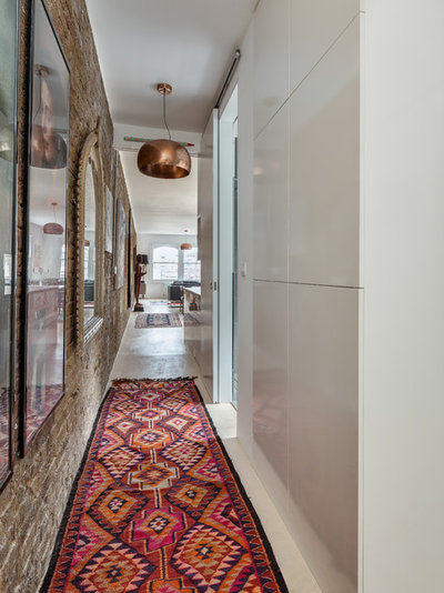 Contemporary Hallway & Landing by Paper House Project