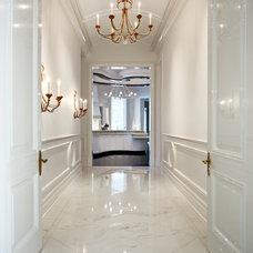 Traditional Hall by Robert J Erdmann Design, LLC