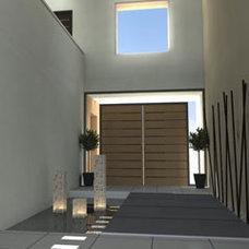 Contemporary Hall by CONSTRUCTORA BIR ESMERALDA