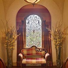 Traditional Hall by Sheila Rich Interiors, LLC