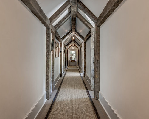 rustic home design. Inspiration for a rustic medium tone wood floor and gray hallway  remodel in Other with Rustic Home Design Photos Decor Ideas