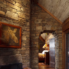 rustic hall by JLF & Associates, Inc.