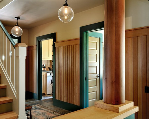 Mountain style hallway photo in Burlington with beige walls : panelled doors - pezcame.com