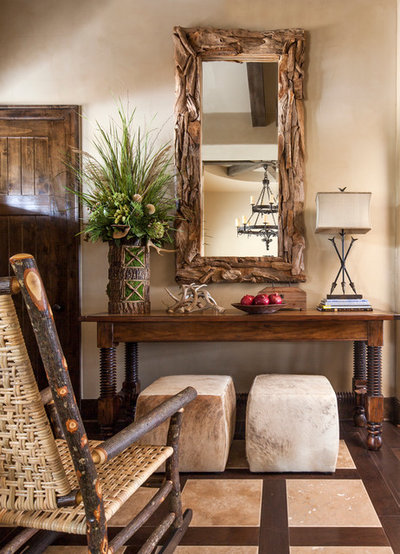 Rustic Hall by Jeannie Balsam Interiors