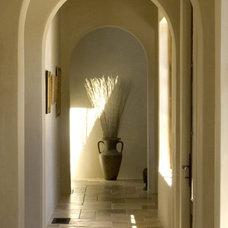 Mediterranean Hall by Francis Garcia Architect