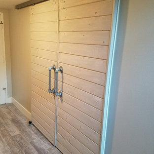 Shiplap siding double sliding barn doors