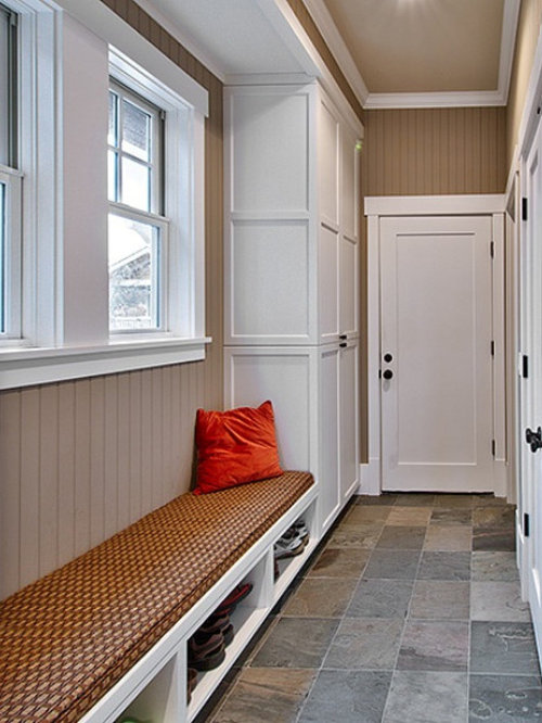 Narrow Mudroom Bench Home Design Ideas Pictures Remodel