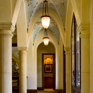 Inspiration for a timeless hallway remodel in Austin with beige walls