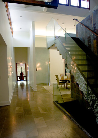 Contemporary Hall by Sisters in Sync Design