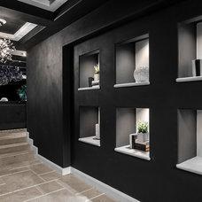 Contemporary Hall by Orange Coast Interior Design