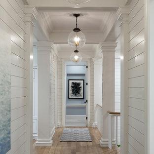 Design ideas for a beach style hallway in Minneapolis.