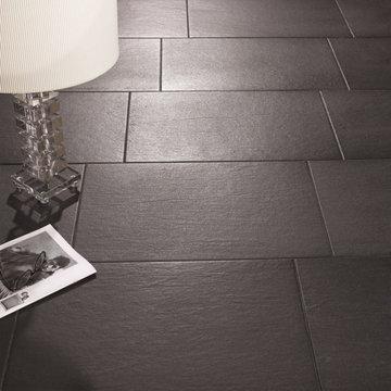 Slate Effect Floor Tiles - Black - Direct Tile Warehouse