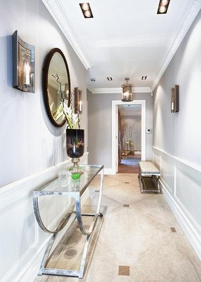Contemporary Hallway & Landing by Suzy Harris Designs